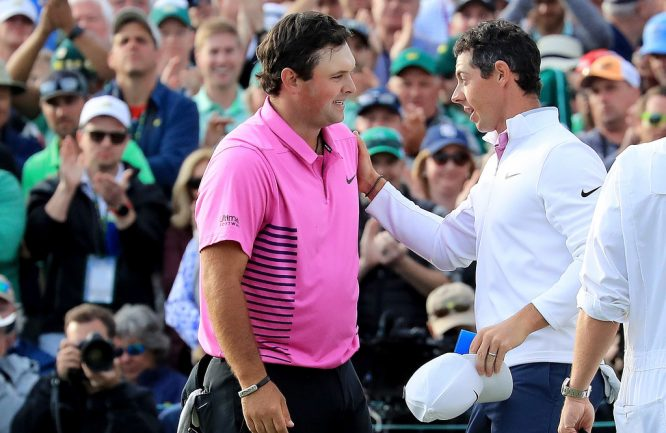 Rory McIlroy y Patrick Reed.