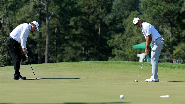 Tiger y Mickelson, en Augusta © The Masters