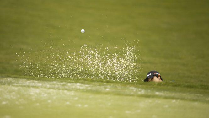Eun-Hee Ji, durante la vuelta de prácticas del US Open el pasado lunes. © USGA/Darren Carroll