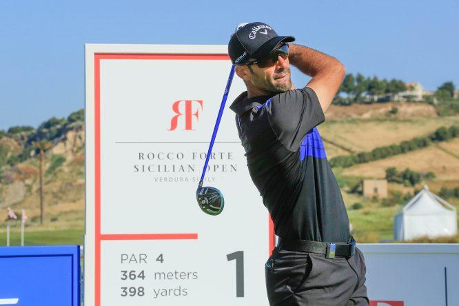 Álvaro Quirós en el Pro Am del Rocco Forte Open 2018. © Golffile | Phil Inglis