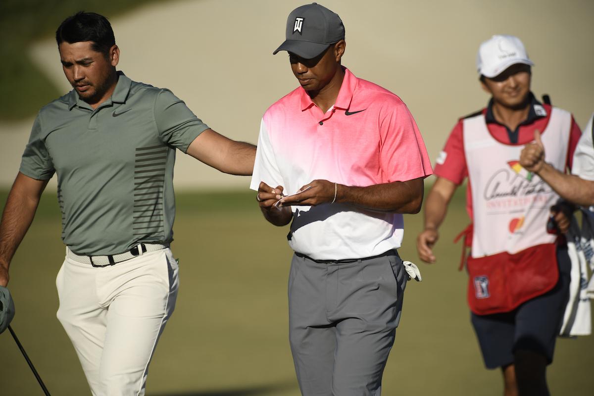 Jason Day y Tiger Woods en el Arnold Palmer Invitational 2018. © Golffile | Dalton Hamm