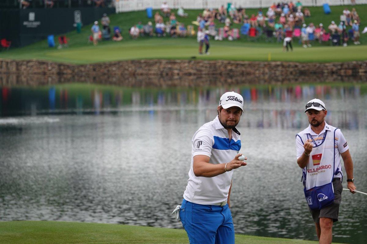 Peter Uihlein en la tercera ronda en Quail Hollow. © Twitter PGA Tour