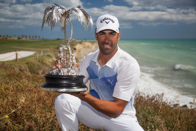 Álvaro Quirós, ganador del Rocco Forte Open 2017. © Golffile | Fran Caffrey
