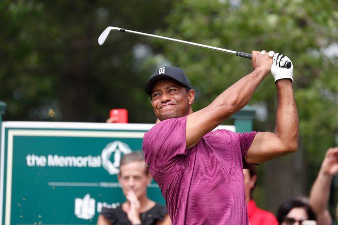 Tiger Woods esta semana en el Memorial Tournament. © Golffile   Brian Spurlock