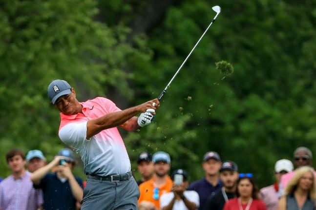Tiger Woods esta semana en Quail Hollow. © PGA Tour
