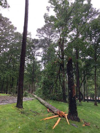 El recorrido de Shoal Creek, tras el paso de la tormenta subtropical Alberto.