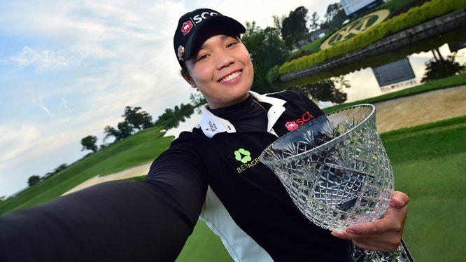Ariya Jutanugarn conquistó el segundo Kingsmill Championship de su carrera. © LPGA