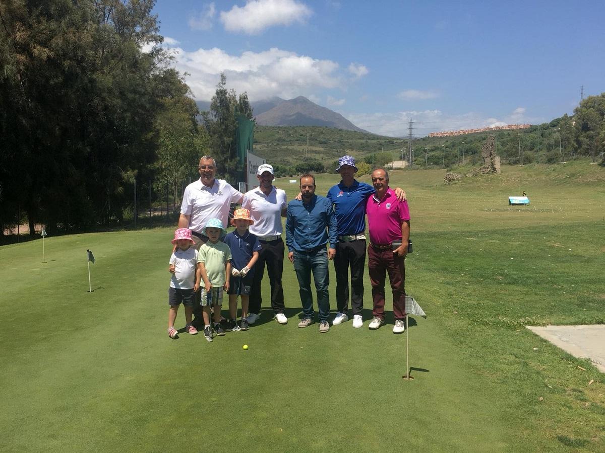 Peter Gustafsson y Jose-Filipe Lima protagonizaron un clinic en la Escuela Municipal de Golf de Estepona.