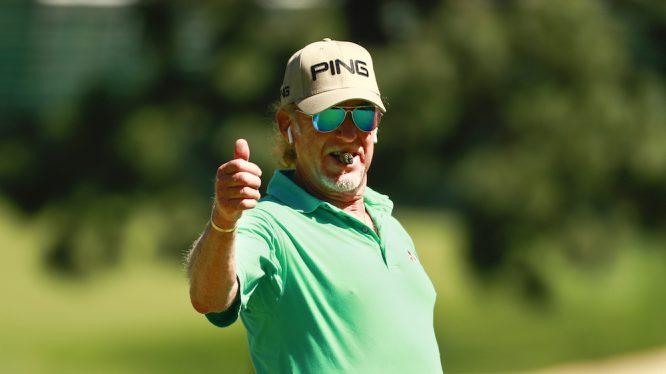 Miguel Ángel Jiménez, durante la previa del US Open. Copyright USGA/Chris Keane