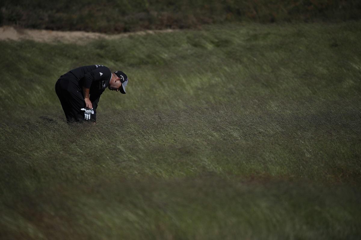 Sergio García durante la jornada de prácticas del martes en Shinnecock Hills. © USGA/Jeff Haynes