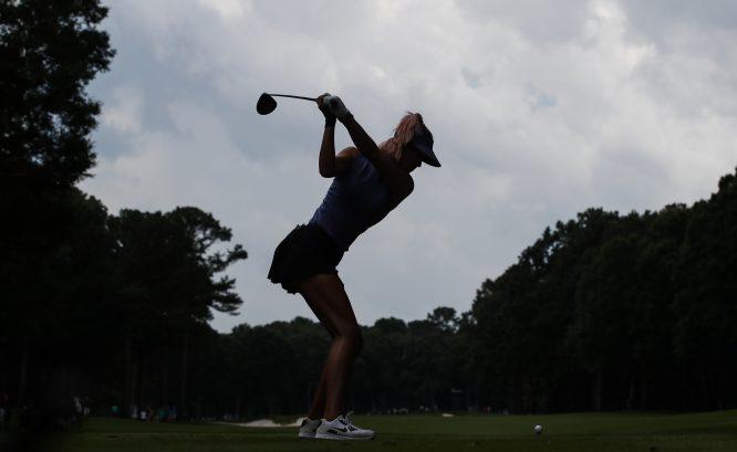 Michelle Wie, durante la segunda ronda del US Open. © USGA/Jeff Haynes