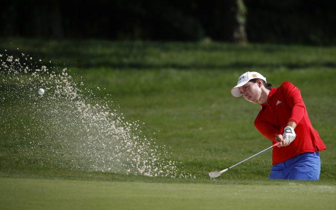 Carlota Ciganda, durante la tercera ronda del US Open. Copyright USGA/Jeff Haynes