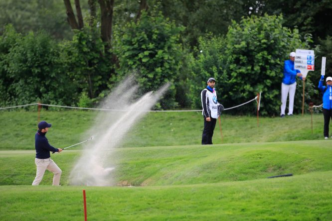Jorge Campillo, hoy durante la segunda ronda del BMW International Open. © Phil Inglis   Golffile
