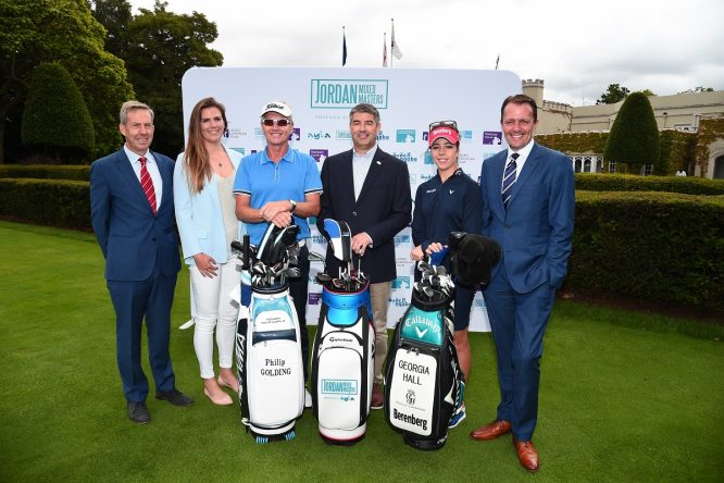 Keith Waters, COO European Tour, Kim Vande Velde, Head of Legal, Ladies European Tour, Philip Golding, Chris White, Director of Operations, Ayla, Georgia Hall and David MacLaren, Head of Staysure Tour. © Getty Images