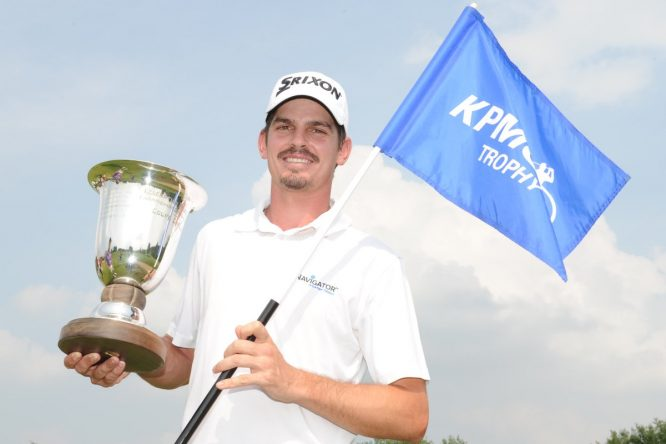 Pedro Figueiredo, ganador del KPMG Trophy. © Twitter Challenge Tour