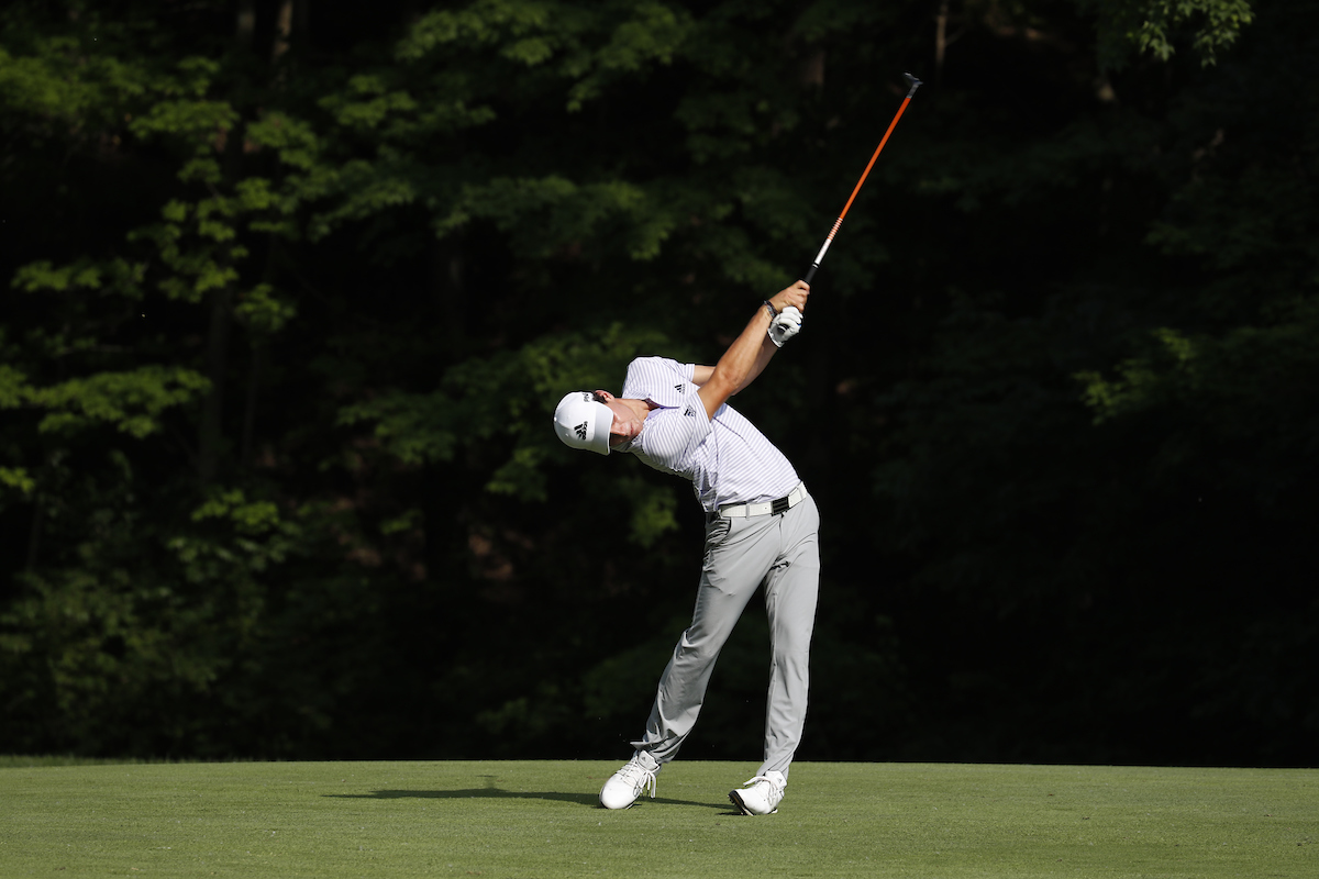 Joaquin Niemann en la tercera ronda en Muirfield. © Golffile | Brian Spurlock
