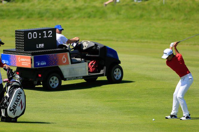 Cada partido llevará un árbitro y un reloj que cronometrará todos los golpes. © Golffile | Phil Inglis
