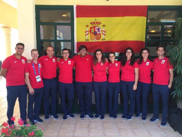 La expedición de golf a los Juegos Mediterráneos de Tarragona.