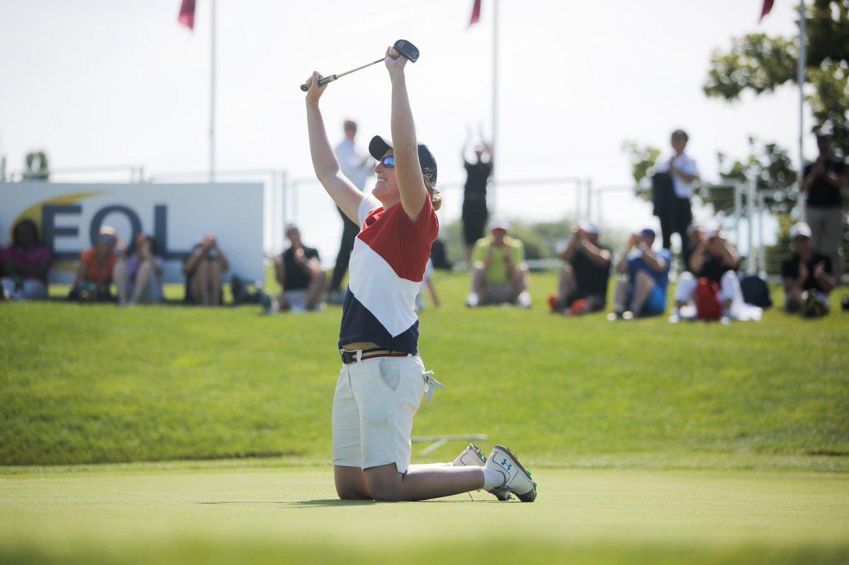 Astrid Vayson de Pradenne celebra su victoria en el Jabra Ladies Open. © LET