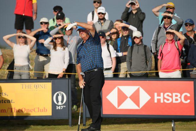 Sandy Lyle ha sido el encargado de pegar el primer golpe del Open. © Golffile | David Lloyd