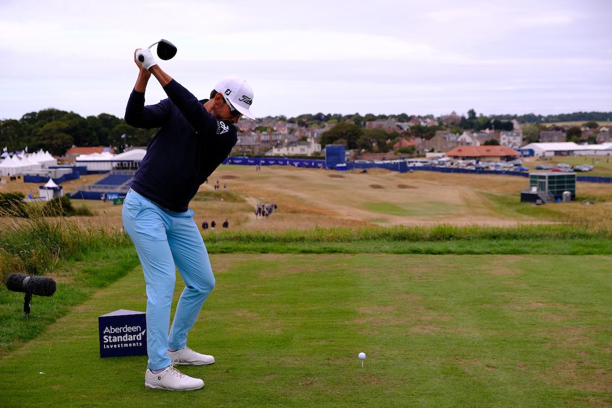 Rafa Cabrera Bello el jueves en el Gullane Golf Club. © Golffile | Fran Caffrey