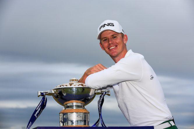 Brandon Stone, ganador del Open de Escocia. © Golffile | Fran Caffrey