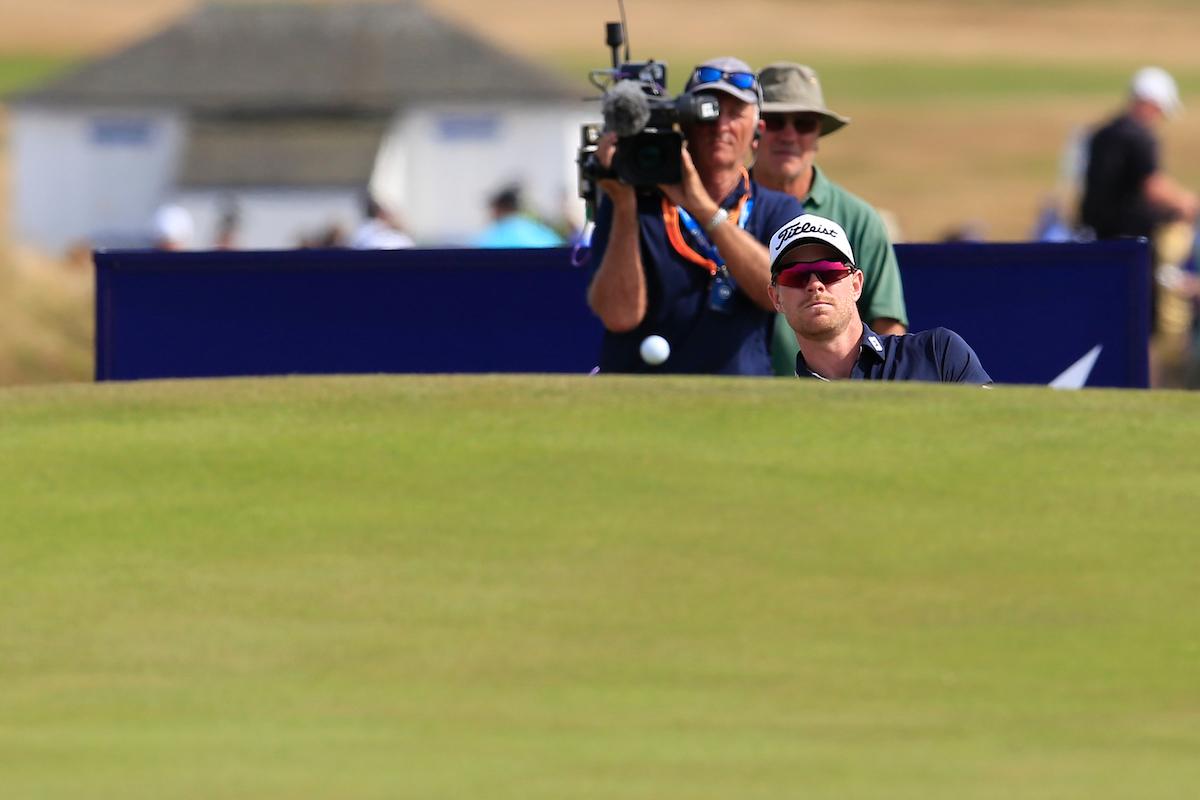 Jens Dantorp, líder del Open de Escocia tras la tercera jornada. © Golffile | Fran Caffrey