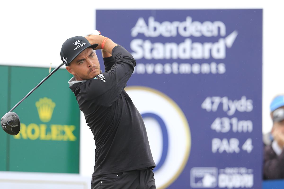 Rickie Fowler en la primera jornada en Gullane Golf Club © Golffile | Fran Caffrey