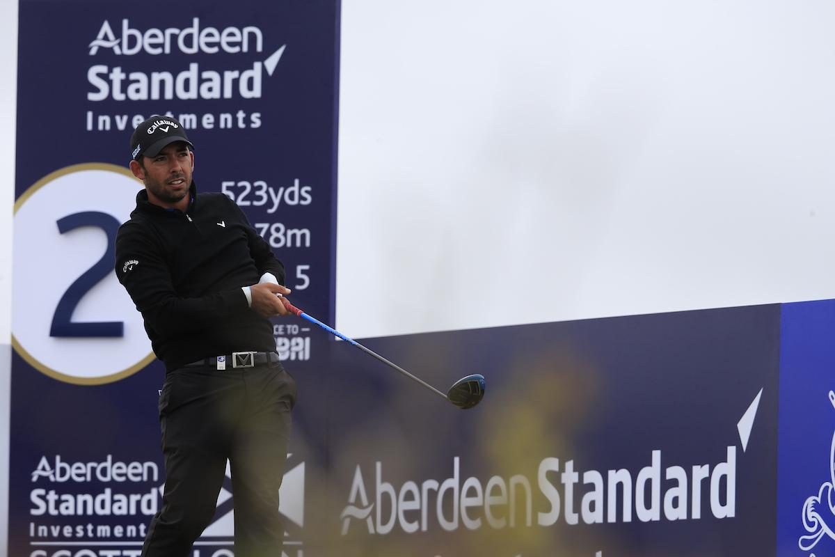 Pablo Larrazábal en la primera ronda del Open de Escocia. © Golffile | Fran Caffrey
