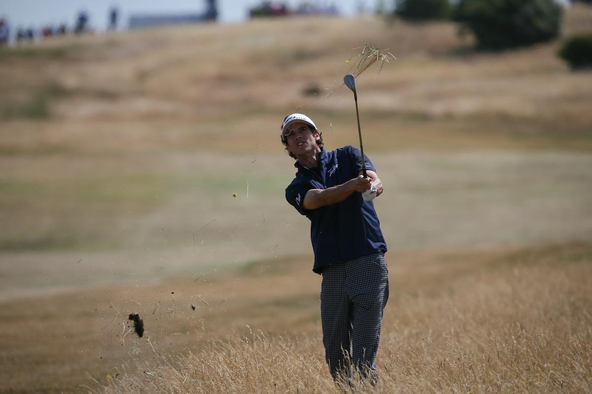 Pedro Oriol en la tercera ronda en Gullane. © Golffile | David Lloyd