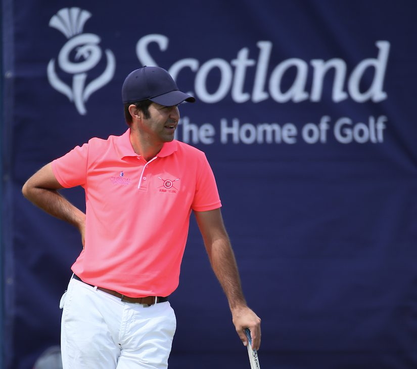 Jorge Campillo durante la tercera jornada del Open de Escocia. © Golffile | David Lloyd