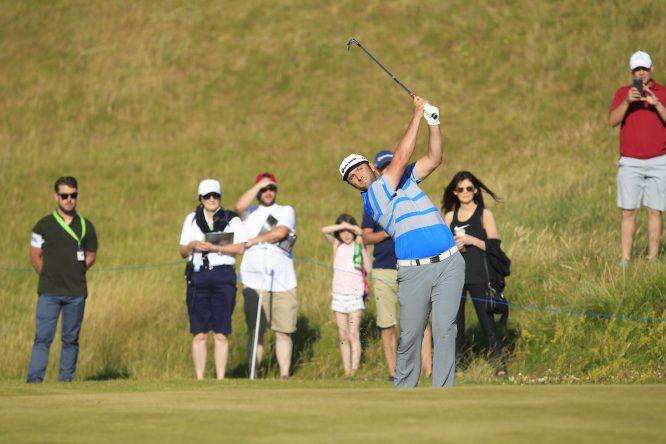 Jon Rahm, hoy durante el Pro-Am del Dubai Duty Free Irish Open. © Thos Caffrey / Golffile