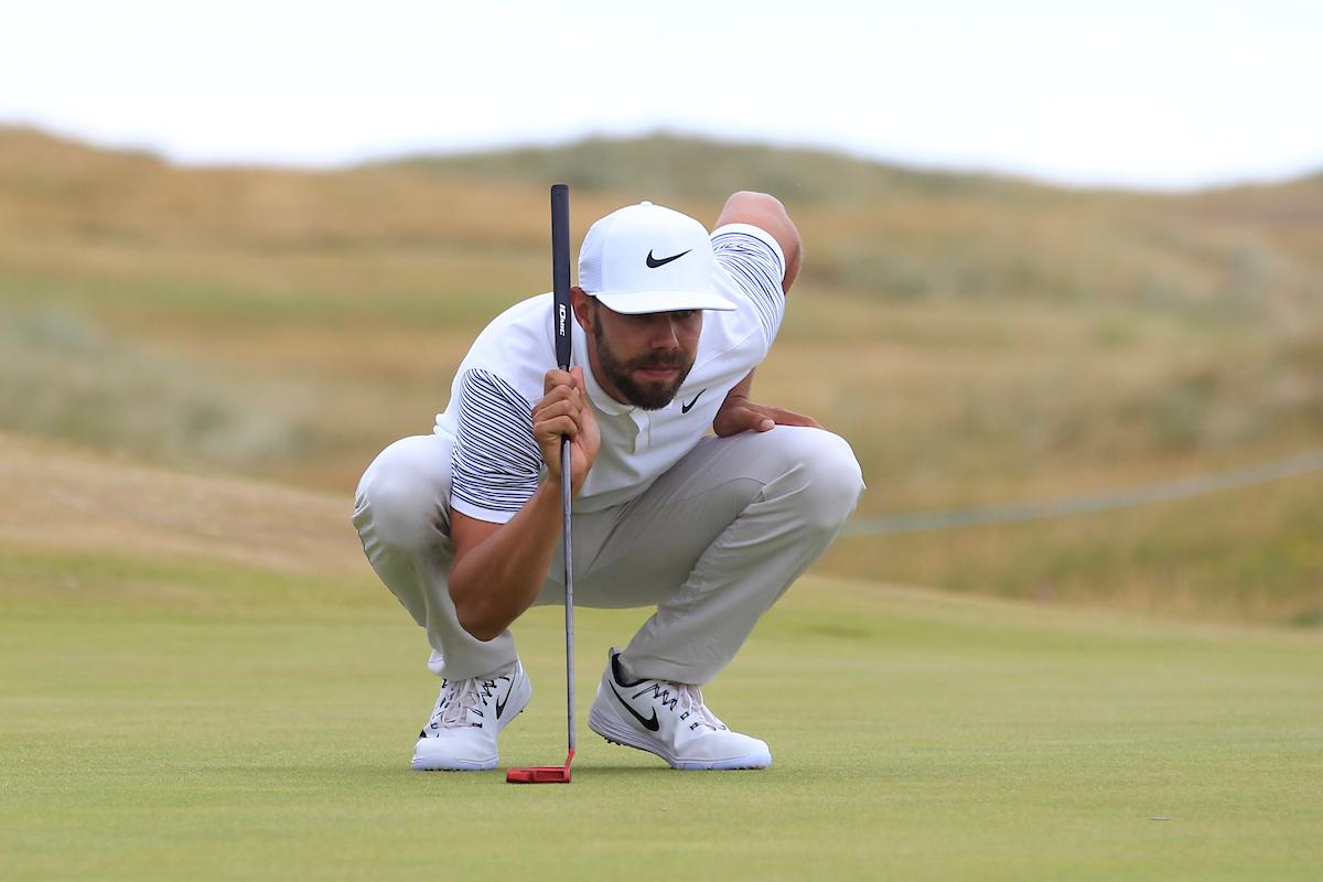 Erik Van Rooyen en el hoyo 16 durante la tercera ronda en Ballylifinn. © Golffile   Thos Caffrey