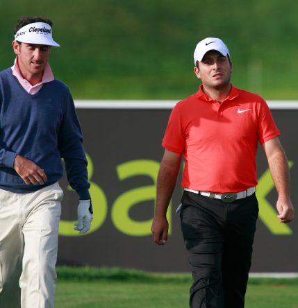 Gonzalo Fernández Castaño y Francesco Molinari en el Madrid Masters de 2011. © Golffile | Eoin Clarke