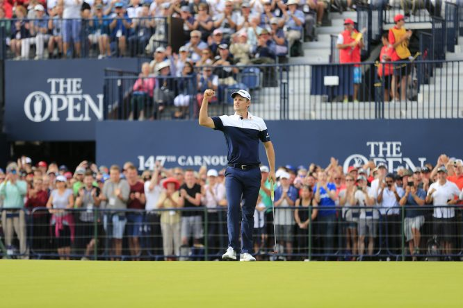 Justin Rose, durante la última ronda del Open Championship. © Golffile | Eoin Clarke