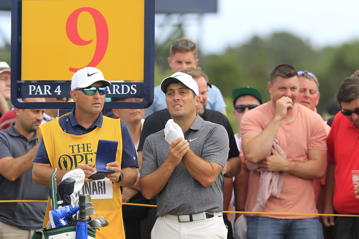 Francesco Molinari y Pello Iguarán en el hoyo 9 el domingo. © Golffile | Eoin Clarke