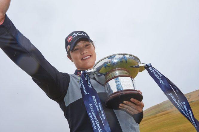 Ariya Jutanugarn, ganadora del Ladies Scottish Open 2018.