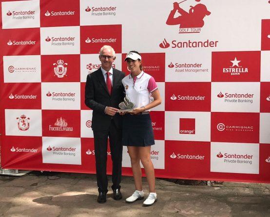 Silvia Bañón, ganadora de la primera parada del Santander Golf Tour 2018.