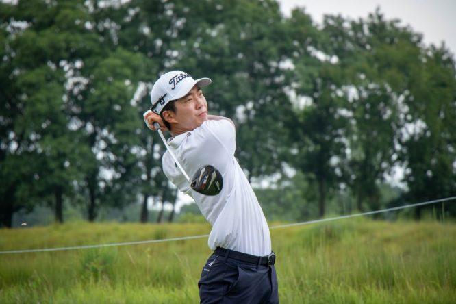 Michael Kim, ayer en la tercera ronda del John Deere Classic. © PGA Tour