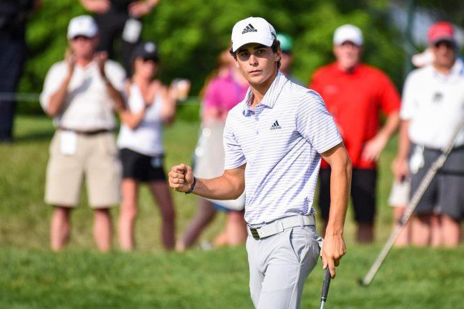 Joaquín Niemann, ayer en el The Greenbrier. © PGA Tour