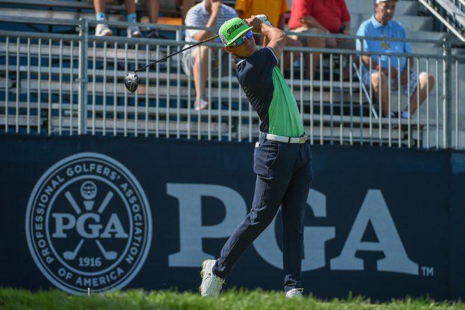 Rafa Cabrera Bello, durante su primera ronda en el PGA Championship. © Golffile | Ken Murray