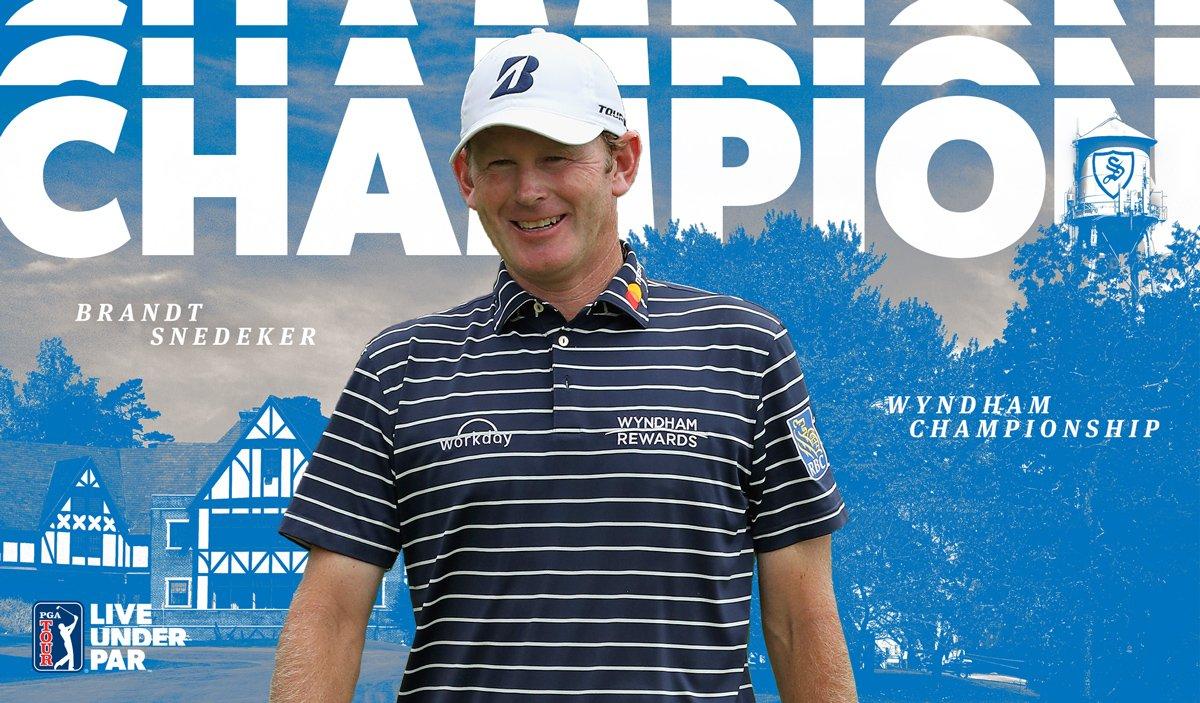 Brandt Snedeker, ganador del Wyndham Championship. © PGA Tour