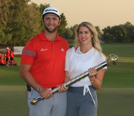 Jon Rahm, con Kelley Cahill @ Golffile | Thos Caffrey