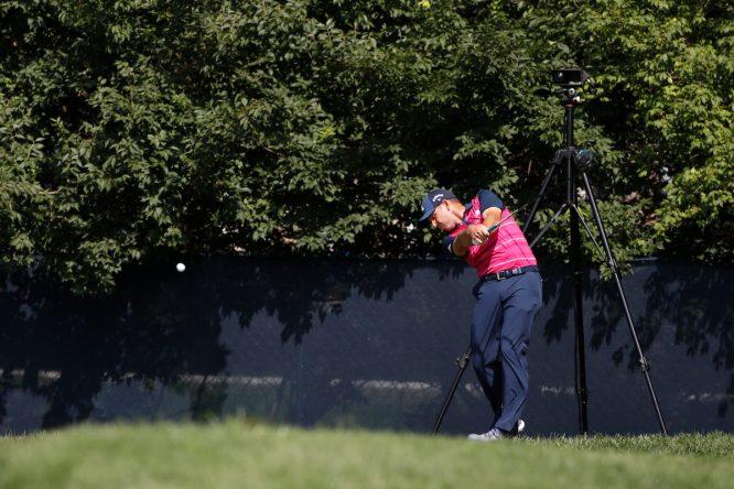 Sergio García, durante la primera ronda del PGA Championship. © Brian Spurlock | Golffile