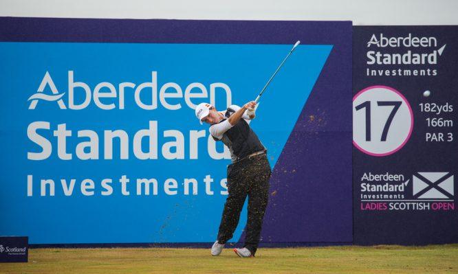Carlota Ciganda en el Open de Escocia 2018.