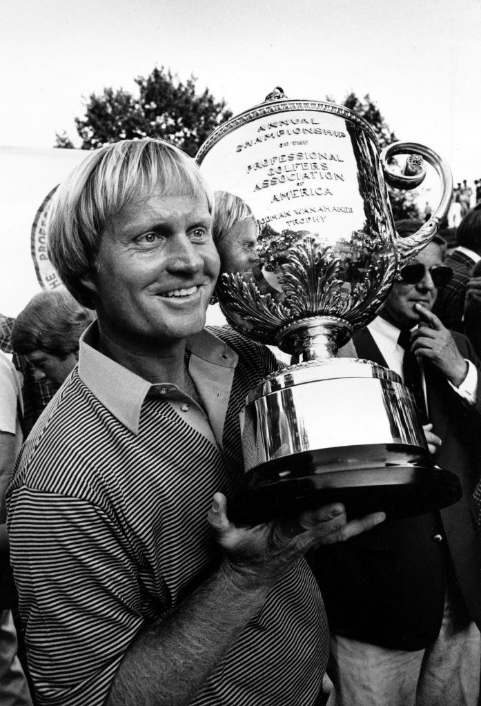 Jack Nicklaus, tras ganar uno de sus PGA Championship