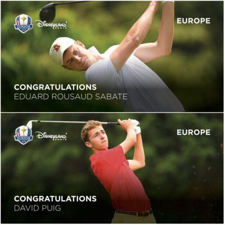 Eduard Rousaud y David Puig estarán en la Ryder Cup Junior. © Ryder Cup