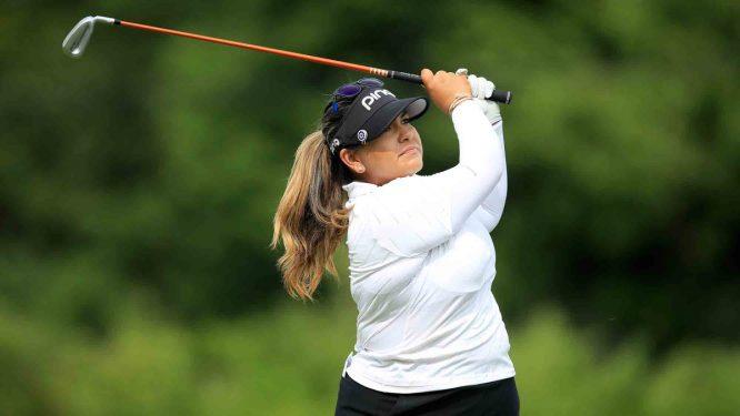 Lizzette Salas lidera el Indy Women in Tech Championship. © LPGA