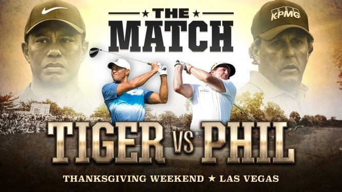 Cartel de The Match © Twitter Tiger Woods