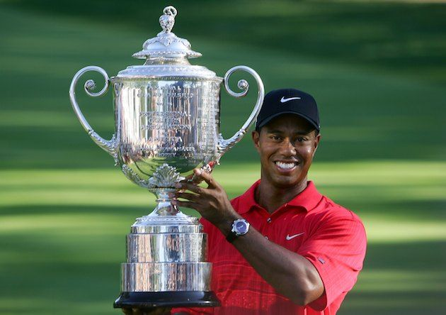 Tiger Woods, tras ganar uno de sus PGA Championship